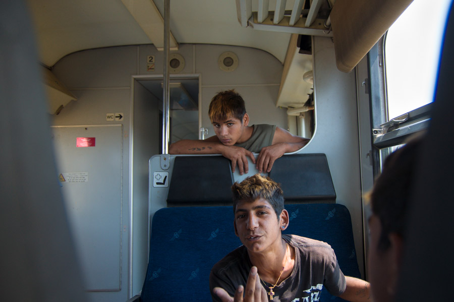 Kids on train wagon. Photo by Ilias Antoniou.