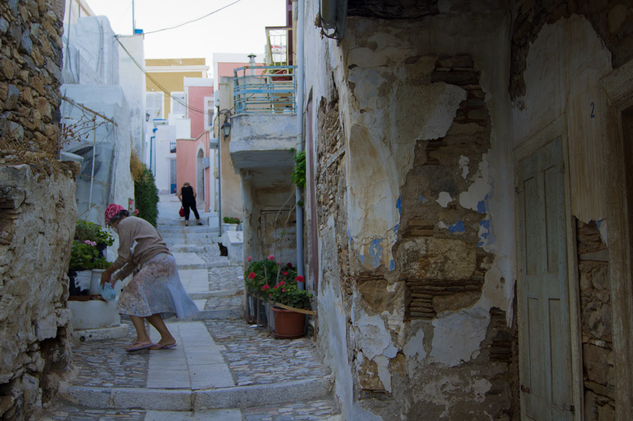 Women at streets of Ano Syra, Syros, Greece, 2012. Photo by Ilias Antoniou.