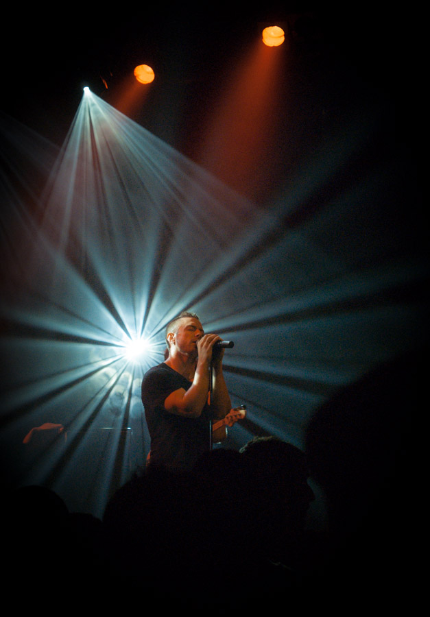 Greg Puciato of The Dillinger Escape Plan live at Gagarin 205, Athens, GR, November 2010