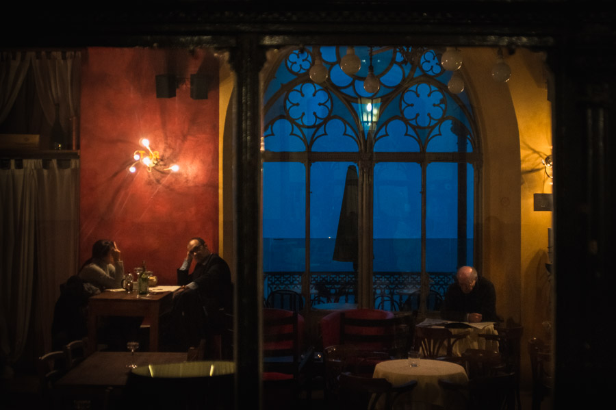 Cafe Restaurant in Bergamo, Italy, 2013. Photo by Ilias Antoniou.