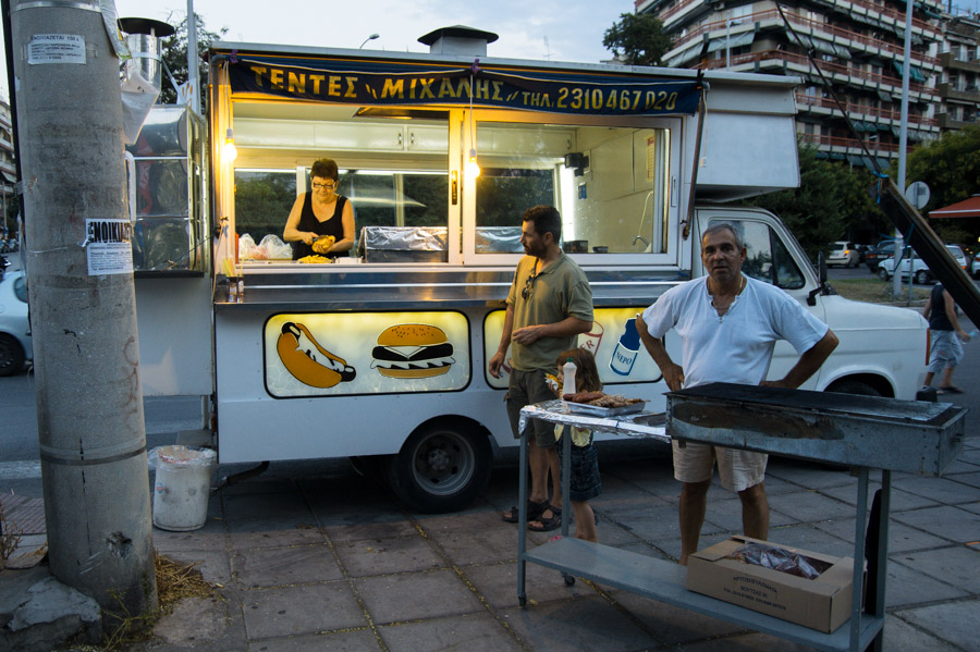 Canteen on street of Thessaloniki, 2013. Photo by Ilias Antoniou.