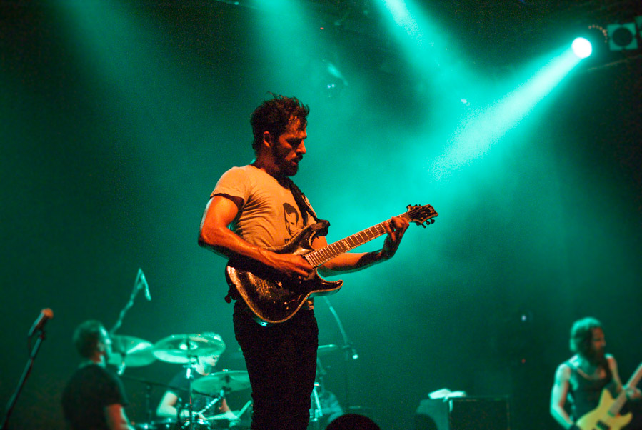 Ben Weinman from The Dillinger Escape Plan live at Gagarin 205, Athens, Greece in 2010