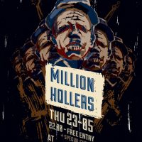Poster for a concert by Million Hollers
